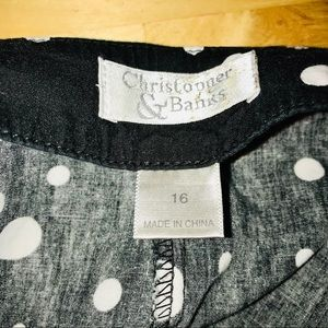 Christopher & Banks Skirts - 4/20 Excellent for Summer Skirt B&W size 16